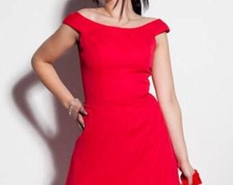NATE red chiffon dress
