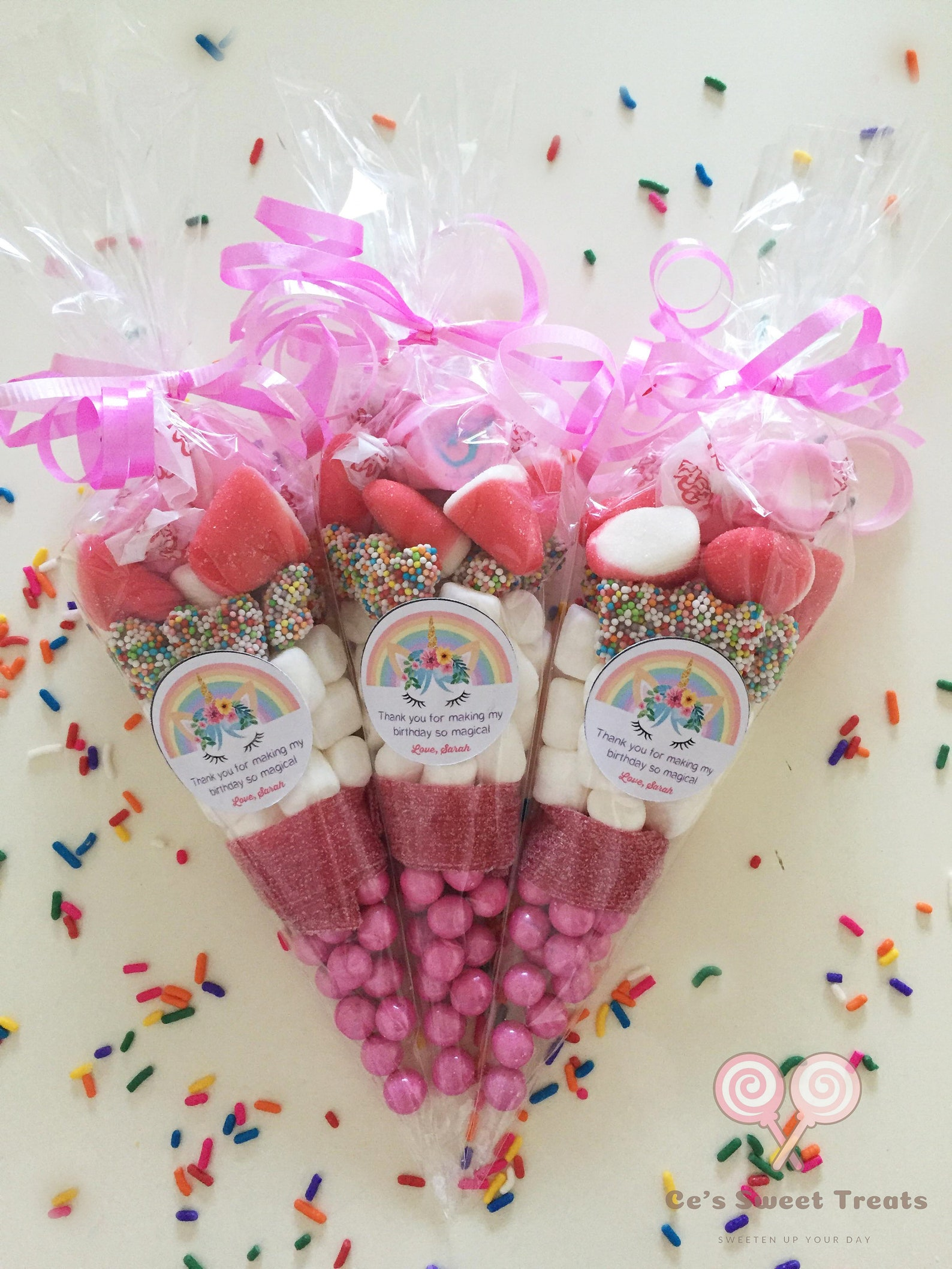 Unicorn Candy Cones
