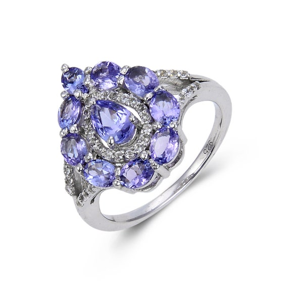 925 Solid Silver Multi Stine Ring Gift For Her Birthstone Designer Women Beautiful Ring Gemstone Ring Natural Multi Stone Women Ring
