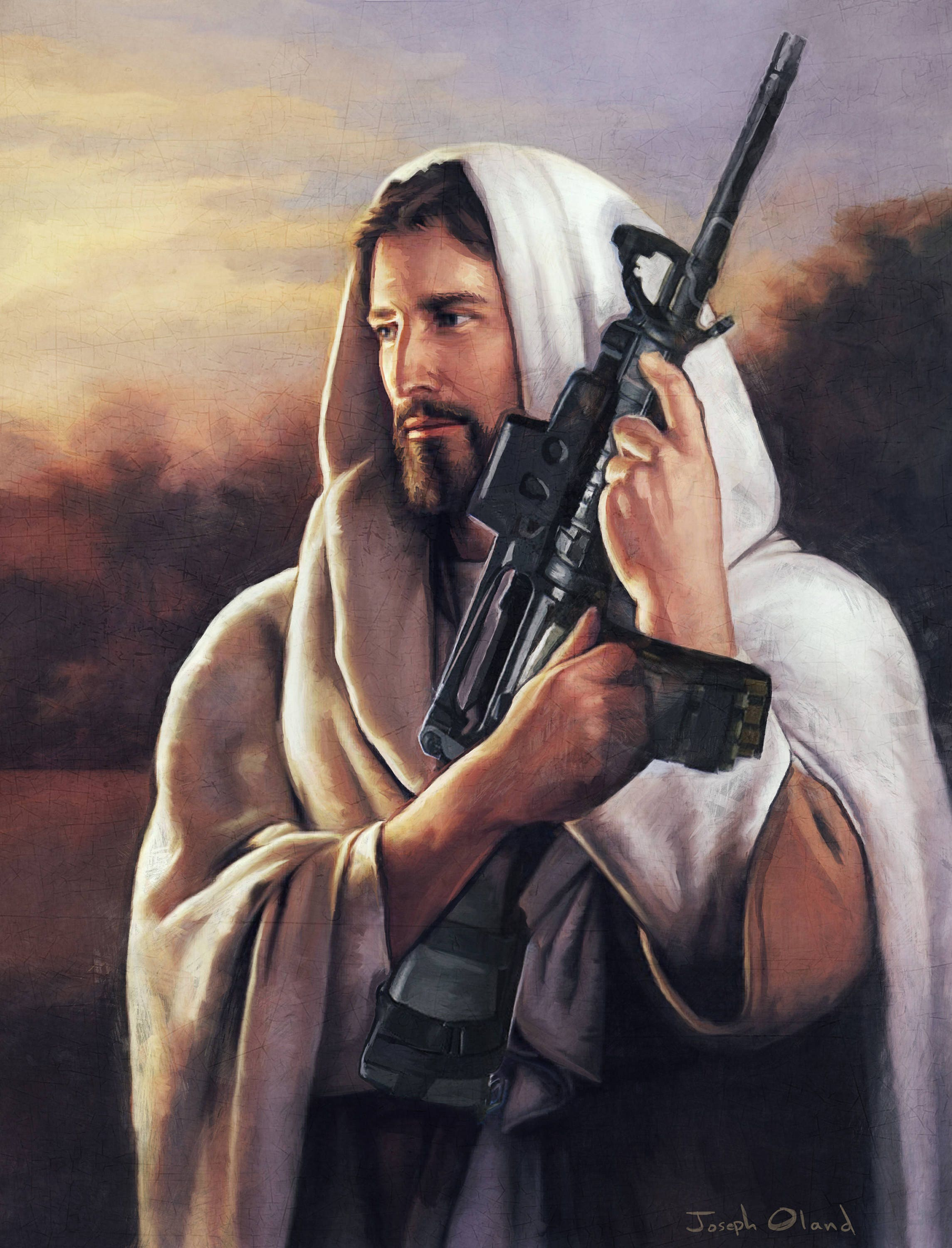Image result for JESUS GUN
