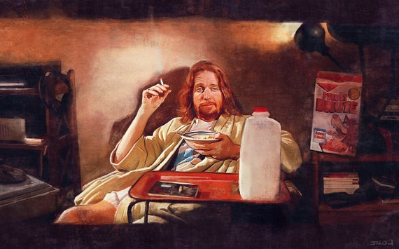 The Big Lebowski Art Canvas Poster 8x12 24x36 inch
