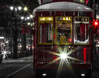 New Orleans Streetcar Selective Color