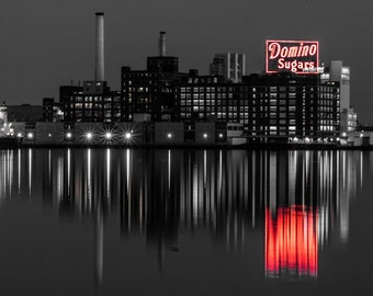 Baltimore Inner Harbor Domino Sugars Plant Selective Color Print
