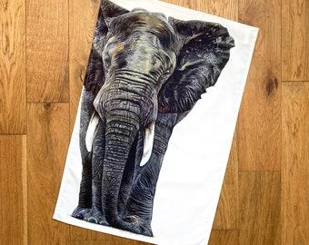 CROCHET TOP HANGING KITCHEN TOWELS  ELEPHANT