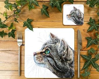 Cat Placemat | Cat Tablemat | Cat Homeware | Cat Tableware | Cat Decor | Cat Coaster