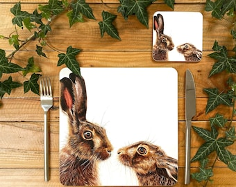 Hares Placemat | Hares Tablemat | Hare Homeware | Hare Tableware | Hare Decor | Hare Coaster