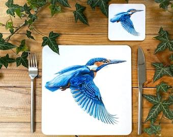 Kingfisher Placemat | Kingfisher Tablemat | Kingfisher Homeware | Kingfisher Tableware | Kingfisher Decor | Kingfisher Coaster