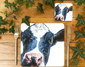 Cow Placemat | Cow Tablemat | Cow Homeware | Cow Tableware | Cow Decor | Cow Coaster