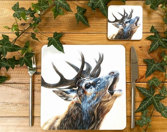 Stag Placemat | Stag Tablemat | Stag Homeware | Stag Tableware | Stag Decor | Stag Coaster