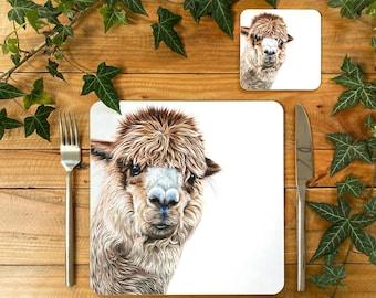 Alpaca Placemat | Alpaca Tablemat | Alpaca Homeware | Alpaca Tableware | Alpaca Decor | Alpaca Coaster