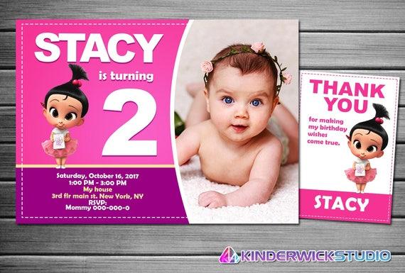 Girl Boss Baby Invitation Party Invite