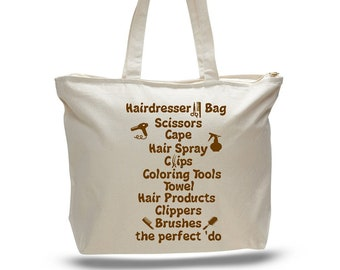 HAIRDRESSER BAG -Hair Stylist Tote, Travel Tote, Gift for Hairdresser, Hair Tools Bag, Hairdresser Tote Bag, Hair Accessory Tote Bag, Tote