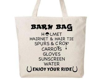 HORSE BAG, Horseback Riding Gift, Horse Lovers Gift, Horseback Riding Bag, Gift for Horse Lover, Barn Bag, Equestrian Decor, Horse Trainer