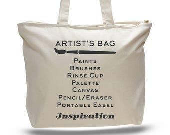 ARTIST TOTE BAG, Painters Bag, Painters Box, Gift for a Painter, Gift for Artist, Artist Gift, Craft Bag, Crafters Bag, Artist Bag, Tote Bag