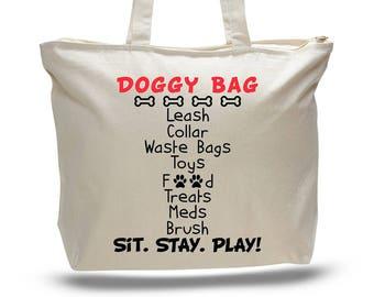DOG BAG, Dog Daycare Bag, Doggy Bag, Dog Bag Tote, Dog Lover Gift, Dog Mom Gift, Travel Bag for Dog, Dog Bag Travel, Pet Supply Bag, Dog