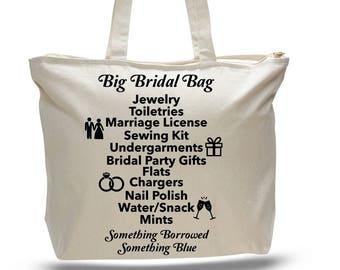 BRIDAL BAG - Bride's Bag, Bridal Gift, Gift for Bride to be, Gift for Bride, Bag for Bride, Bridal Tote Bag, Wedding Gift, Wedding Tote