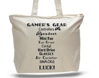 GAMER TOTE BAG, Gamer Bag, Video Games, Gift for Gamer, Gift for Player, Gamer Gift, Video Game Gift, Pc Player Bag, Video Gamer Gift, Gamer