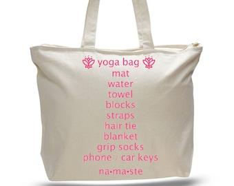 YOGA BAG - Unique Yoga Gift, Yogi Gift, Yoga Mat Bag, Gift for Instructor, Gift for Women, Weekend Bag, Gift for Yoga, Gift for Yoga Teacher