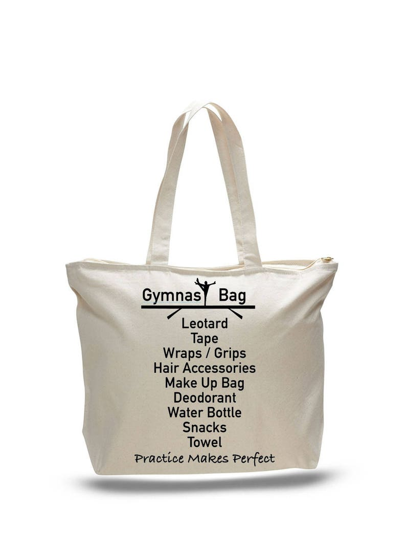 3312b1b701 GYMNAST BAG Gymnastic Tote Gift for Gymnast Gymnastics Bag