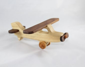 Wooden Toy Airplane Etsy