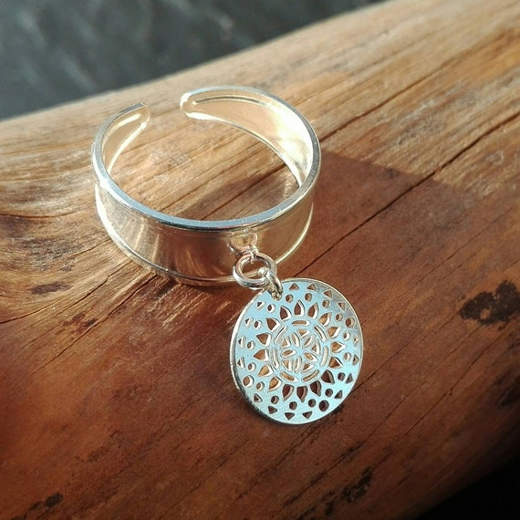 925 silver boho ring, stamp ring - Boho Jewelry - Women's Jewelry - Gift for her