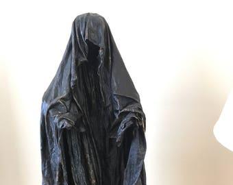Handmade Recycled Fabric Sculpture. Dementor.