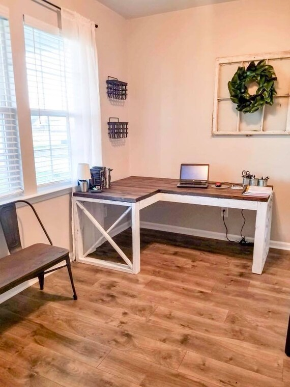 pretty nice 70624 745ba Farmhouse L Shaped Desk, LOCAL PICKUP ONLY