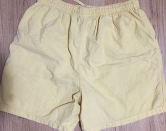 a3ec68515998 Vintage 90s Classic Elements summer yellow shorts chubbies chubby short  pocket nike ralph X-Large