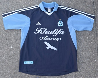 75c4a50faed Vintage Olypique de Marseille Adidas Soccer jersey football france europe