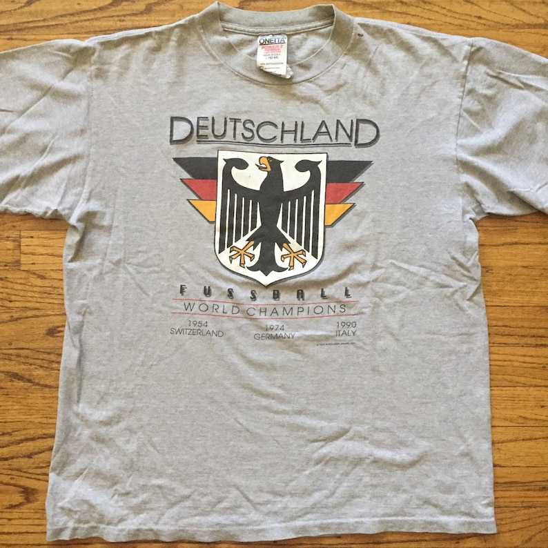 ba956d5d7 Vintage Euro Tech Sport Germany Deutchland t shirt Large World
