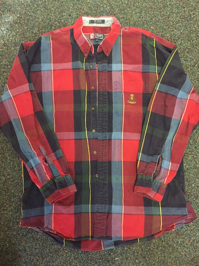 92fd42a7c5f8fd Vintage Chaps Ralph Lauren oxford button down shirt | Etsy