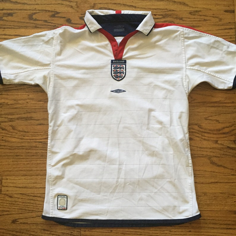 748d3603bf9 Vintage Umbro England soccer futbol football jersey lions   Etsy