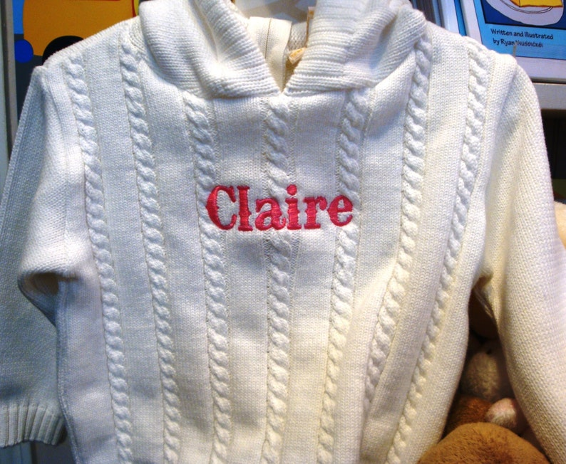 Zip back Personalized Sweater / Personalized Name Sweater / image 0