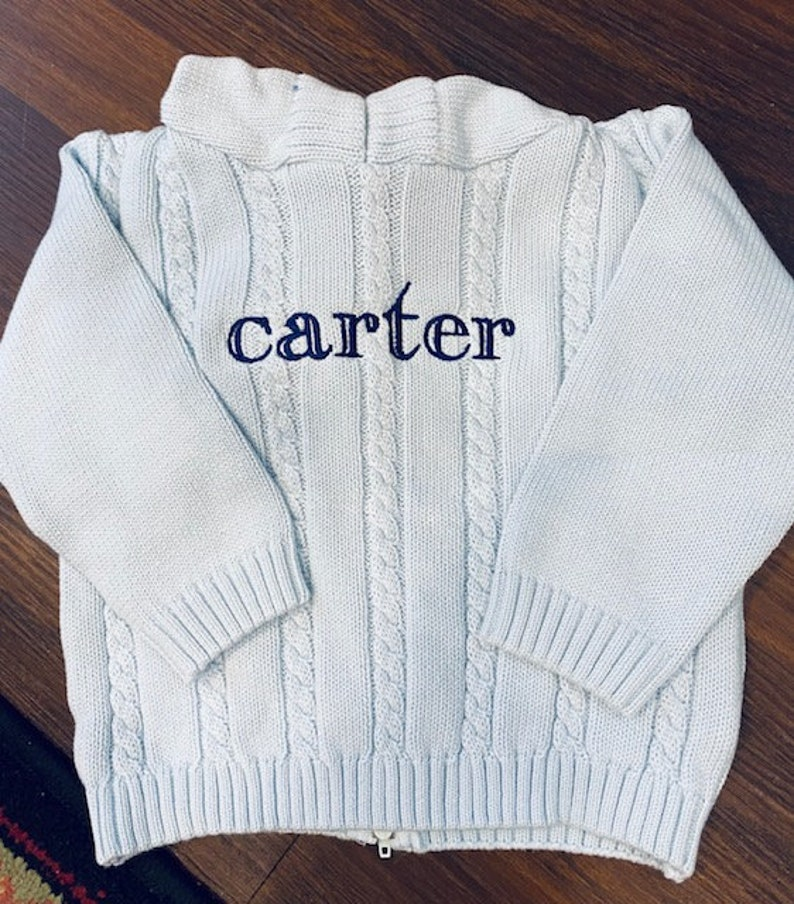 Zip back Personalized Sweater / Personalized Name Sweater / image 1