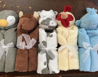 Animal  Lovie with Name / Personalized Lovie Blanket / Personalized Security Blanket / Personalized Animal / Angel Dear Personalized Lovies