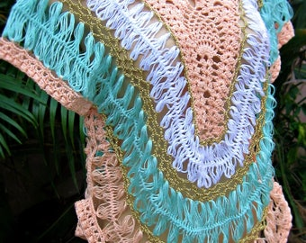 Hairpin lace blouse