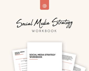 Social Media Strategy, Social Media Marketing, Social Media Planner for Small Business Owners | Printable - A4