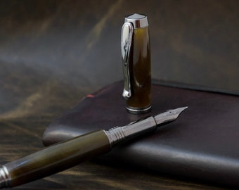 The Magalloway || Hand turned resin fountain pen by The Acadian