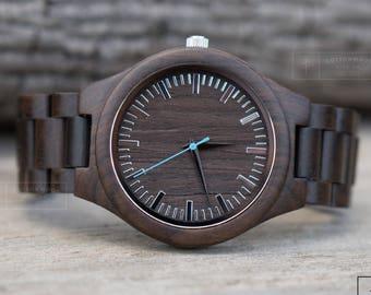 Wooden Watch, Anniversary Gifts for Boyfriend, Wooden Watches for Men, Watches for Men, Wood Watch, Mens Watch, Engraved Watch, Watch