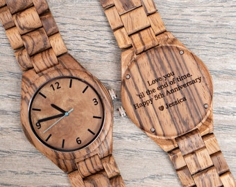 c2c01de6fe48c 1st Anniversary Gift Men Wooden Watch First Anniversary