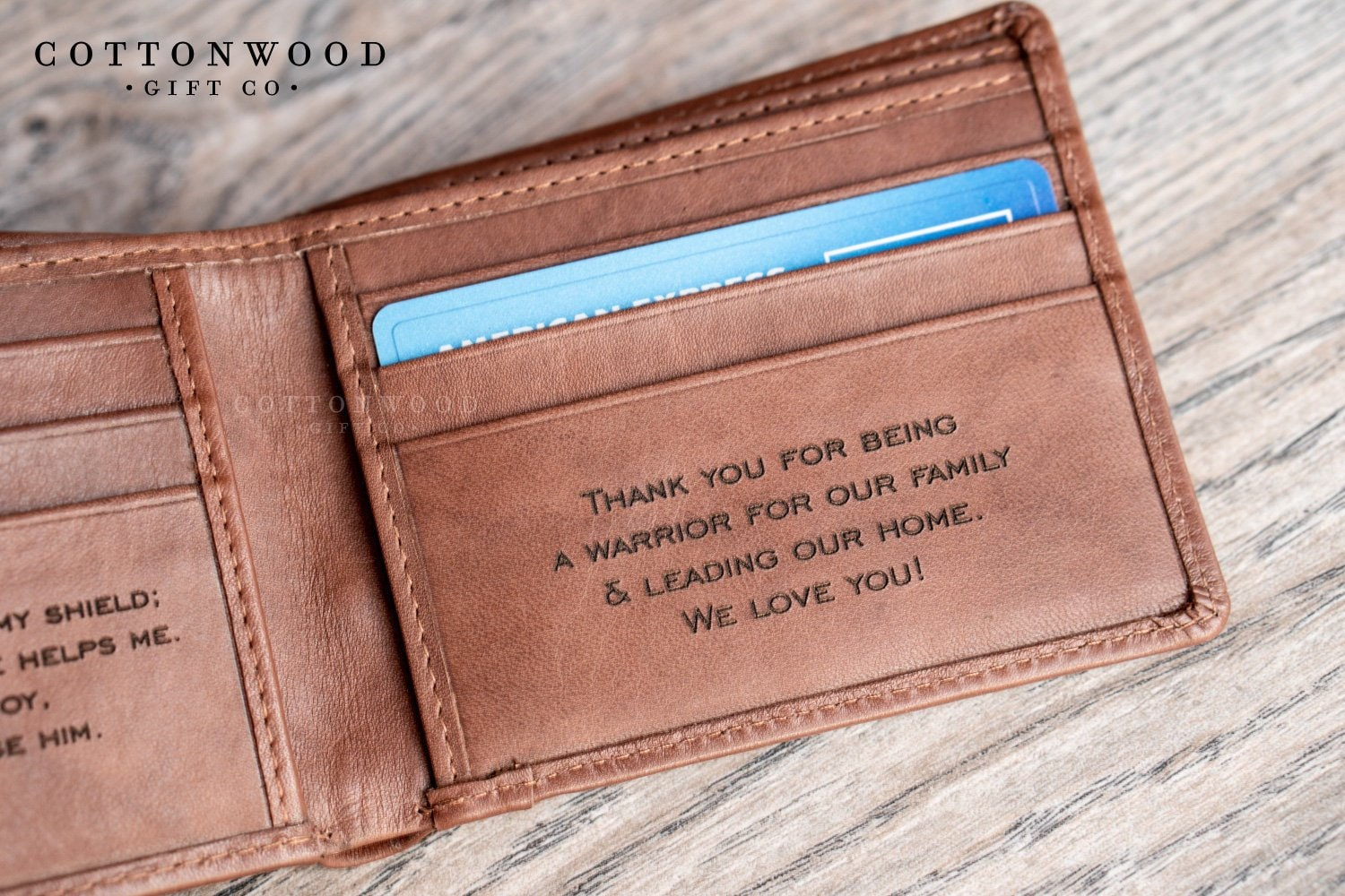 Personalized Mens Custom Photo Wallet Leather Wallet Mens Gift Father Day Gift