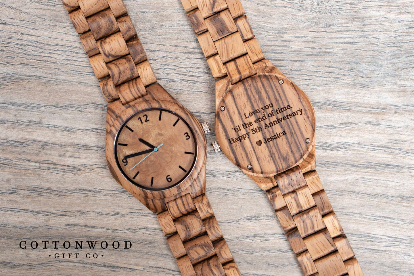 5th Anniversary Gift from Wife Mens Wooden Watch Husband