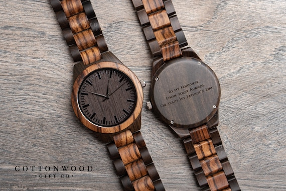 Fifth Wedding Anniversary Gifts For Men: 5th Anniversary Gifts For Him Mens Wooden Watch First 1st