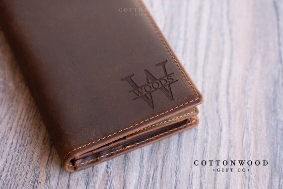 Personalized Gifts for Men Mens Long Wallet Mens Leather Wallet Personalized Wallet Leather Bifold Wallet RFID Mens Wallet Men Wallet
