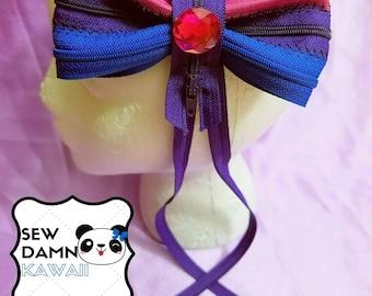 Bi Flag Kawaii Zipper Hair Bow