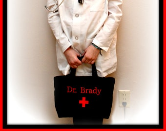 Dr. Bag - Pretend Play - Personalized - Custom made to order - Doctor's Bag