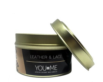 Leather & Lace TIn Candle