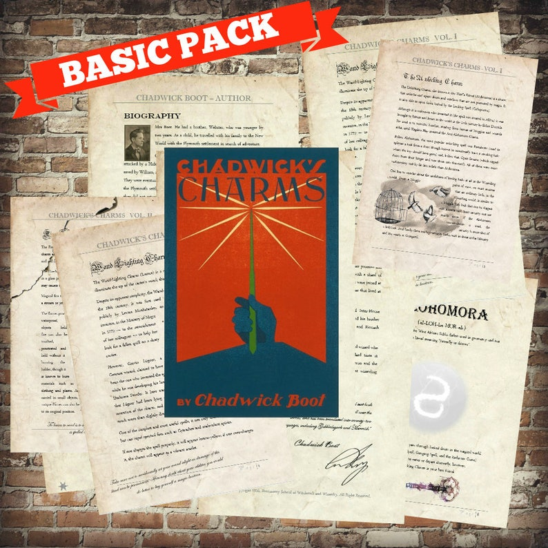 picture regarding Harry Potter Printable Spell Book named Electronic PRINT Chadwicks Charms - Vol. 1,2,3 - Excellent Beasts Newt Scamander Ilvermorny Harry Potter Printable Spell Textbooks Very simple Pack