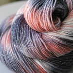 Hand Dyed Sparkle Yarn - Prom Night Kiss