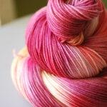 Hand Dyed Sock Yarn - Cherry Blossom